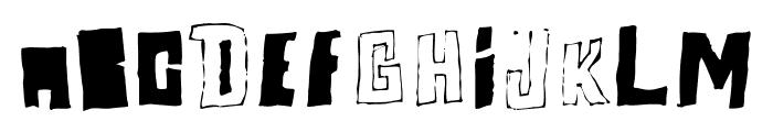 Perlon Fat Font UPPERCASE