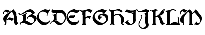PerryGothic Regular Font UPPERCASE