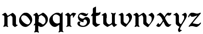 PerryGothic Regular Font LOWERCASE