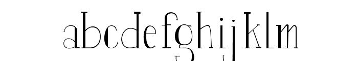 Perset-Display Font LOWERCASE