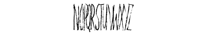 Personal Delinquent Font UPPERCASE