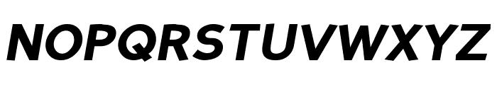 Perspective Sans Black Italic Font UPPERCASE