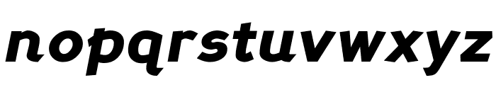Perspective Sans Black Italic Font LOWERCASE
