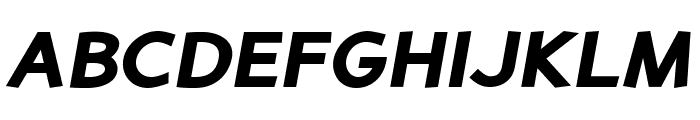 PerspectiveSans-BlackItalic Font UPPERCASE