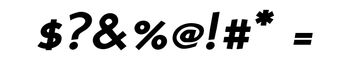 PerspectiveSans-BoldItalic Font OTHER CHARS