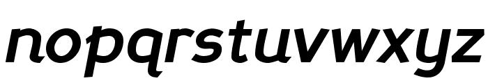 PerspectiveSans-BoldItalic Font LOWERCASE