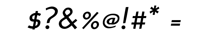 PerspectiveSans-Italic Font OTHER CHARS
