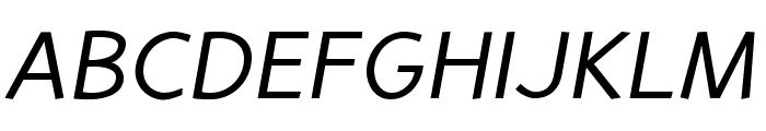 PerspectiveSans-Italic Font UPPERCASE