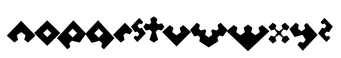 Perturb the Outline Diagonal Font LOWERCASE