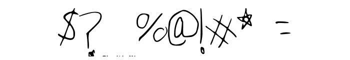 Peter_s_Handwriting Font OTHER CHARS