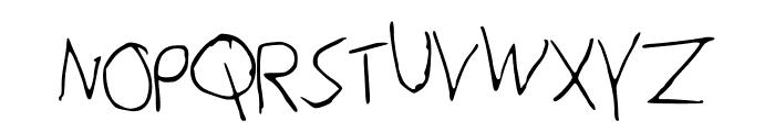 Peter_s_Handwriting Font UPPERCASE
