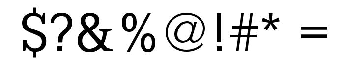 PetitLatin Font OTHER CHARS