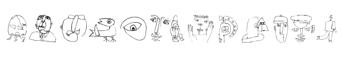 PetitSketches Font UPPERCASE