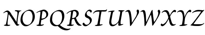 Petitscript-Italic Font UPPERCASE
