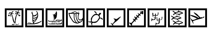 PetroglyphMarks Font OTHER CHARS