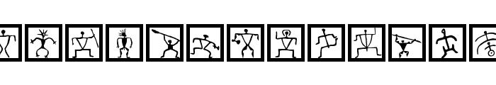 PetroglyphMarks Font UPPERCASE