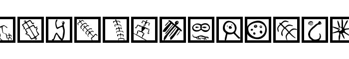 PetroglyphMarks Font LOWERCASE