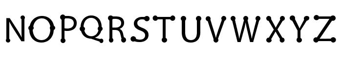 pearl Regular Font UPPERCASE