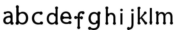 pearl Regular Font LOWERCASE