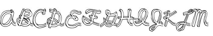pee pants script Font UPPERCASE