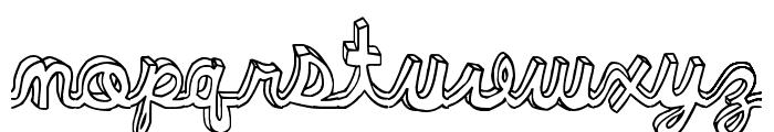 pee pants script Font LOWERCASE