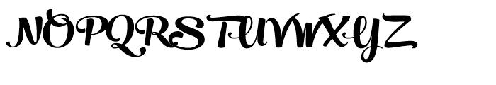 Peaches and Cream Black Font UPPERCASE