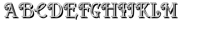 Peloponeso 2 Shadow Font UPPERCASE