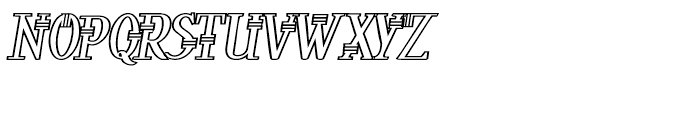 Peloponeso Outline Font UPPERCASE
