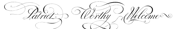 Penabico Words Font UPPERCASE