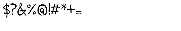 Pentastic Regular Font OTHER CHARS