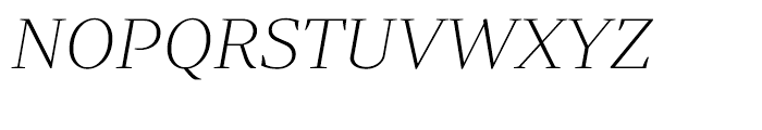 Periodico Display Ultra Light Italic Font UPPERCASE