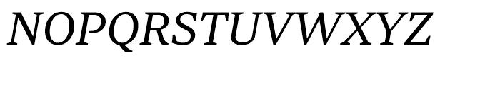 Periodico Text Light Italic Font UPPERCASE