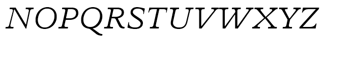 Perrywood Light Italic Font UPPERCASE