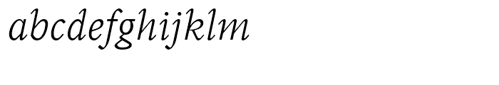 Perrywood Light Italic Font LOWERCASE