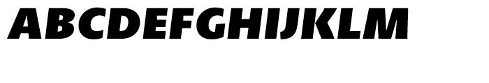 Petala Pro Black Italic Font UPPERCASE