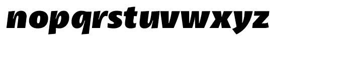 Petala Pro Black Italic Font LOWERCASE