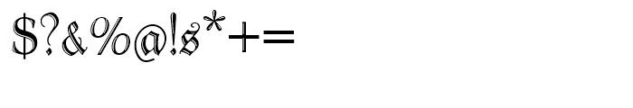 Peter Schlemihl Regular Font OTHER CHARS