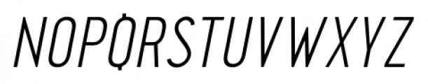Pekora Light Italic Font UPPERCASE