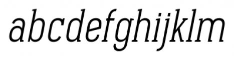Pekora Light Serif Italic Font LOWERCASE
