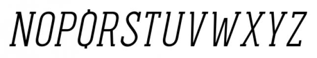 Pekora Light Slab Serif Italic Font UPPERCASE