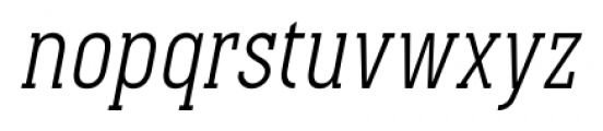 Pekora Light Slab Serif Italic Font LOWERCASE