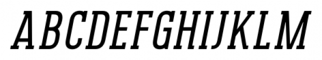 Pekora Regular Slab Serif Italic Font UPPERCASE
