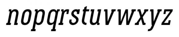 Pekora Regular Slab Serif Italic Font LOWERCASE
