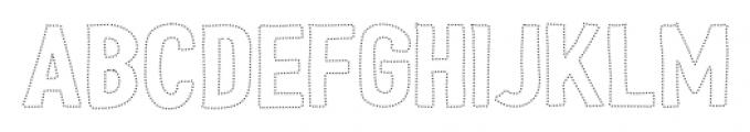 Peperoncino Sans Sparks Font UPPERCASE