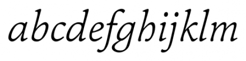 Pesaro Extra Light Italic Font LOWERCASE