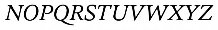 Pesaro Italic Font UPPERCASE