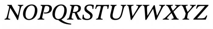 Pesaro Medium Italic Font UPPERCASE