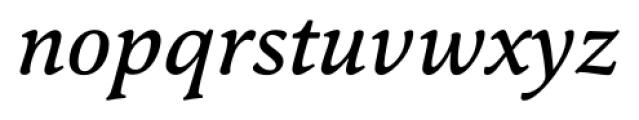 Pesaro Medium Italic Font LOWERCASE