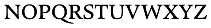 Pesaro Medium Font UPPERCASE
