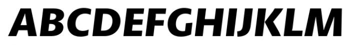 Petala Pro Bold Italic Font UPPERCASE
